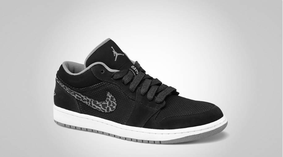 Air Jordan 1 Phat Faible Charbon Noir / Lumière Sans Briquet jeu  authentique wMavA