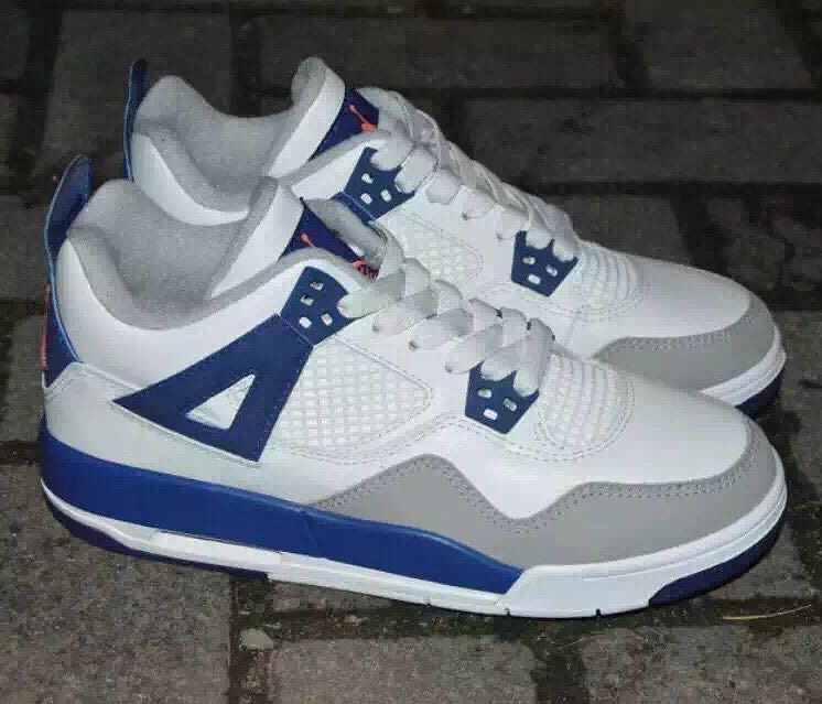 Air Jordan 4 Girls White/Royal-Wolf Grey Hyper Orange Release Date 487724-132 (1)