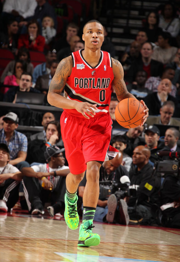 Damian Lillard wearing adidas Crazy Fast All-Star