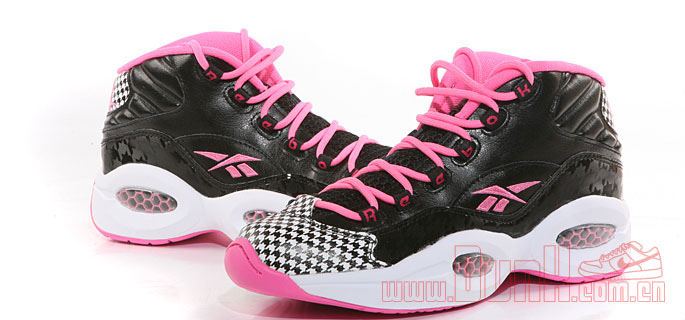 Reebok Question GS Black/Pink Houndstooth (1)