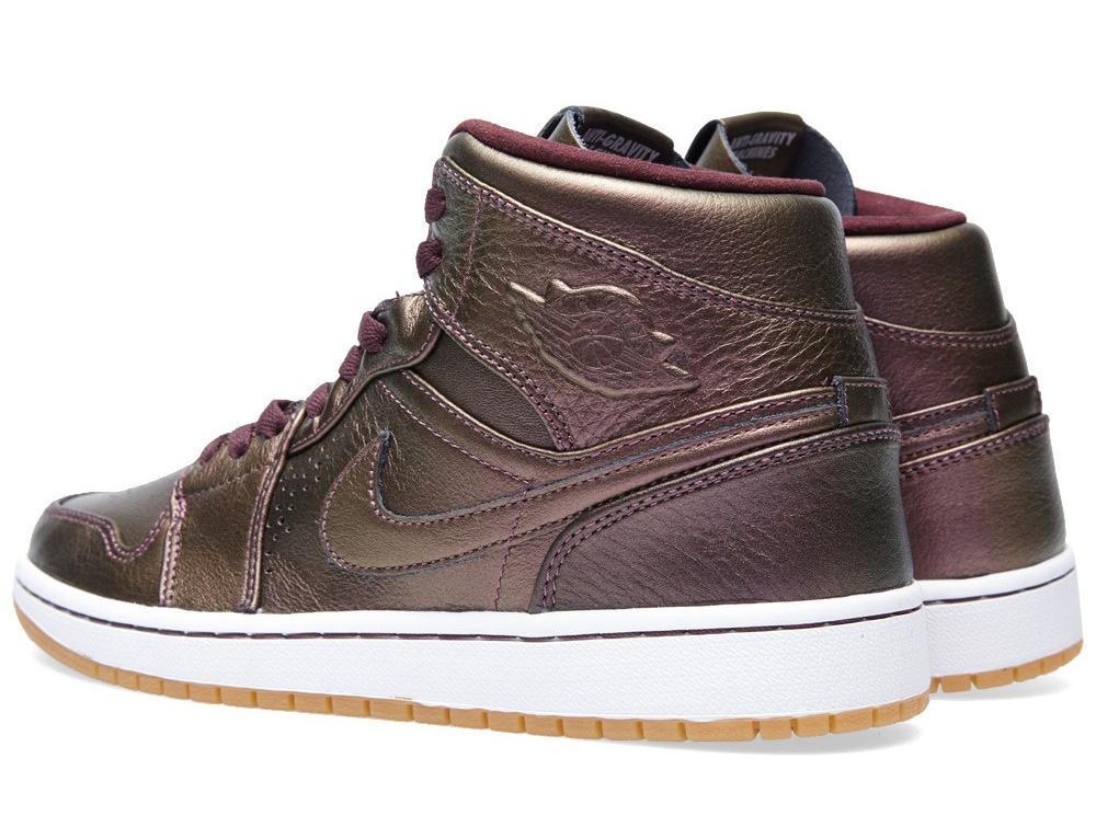 Air Jordan 1 Mid Color  Deep Burgundy Deep Burgundy-White-Gum Light Brown  Style    629151-605 a2d6281a2