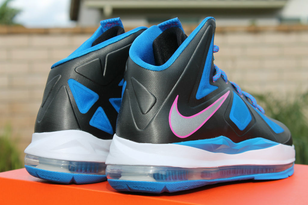 more photos 5cb77 c7329 Nike LeBron X 10 GS Black Metallic Silver Photo Blue White 543564-005 (7
