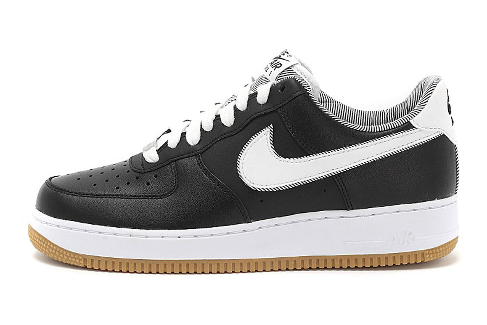 nike air force 1 low black white gum sole collector. Black Bedroom Furniture Sets. Home Design Ideas