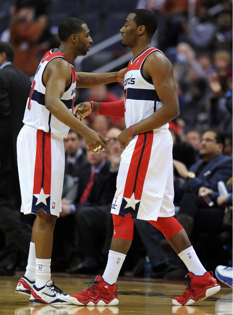 John Wall wearing adidas Top Ten 2000 Red Navy (9)