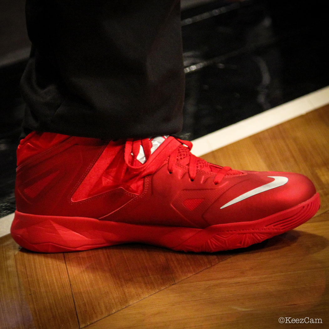 Sole Watch // Up Close At Barclays for Nets vs Heat - LeBron James wearing Nike Zoom Soldier 7 PE (3)