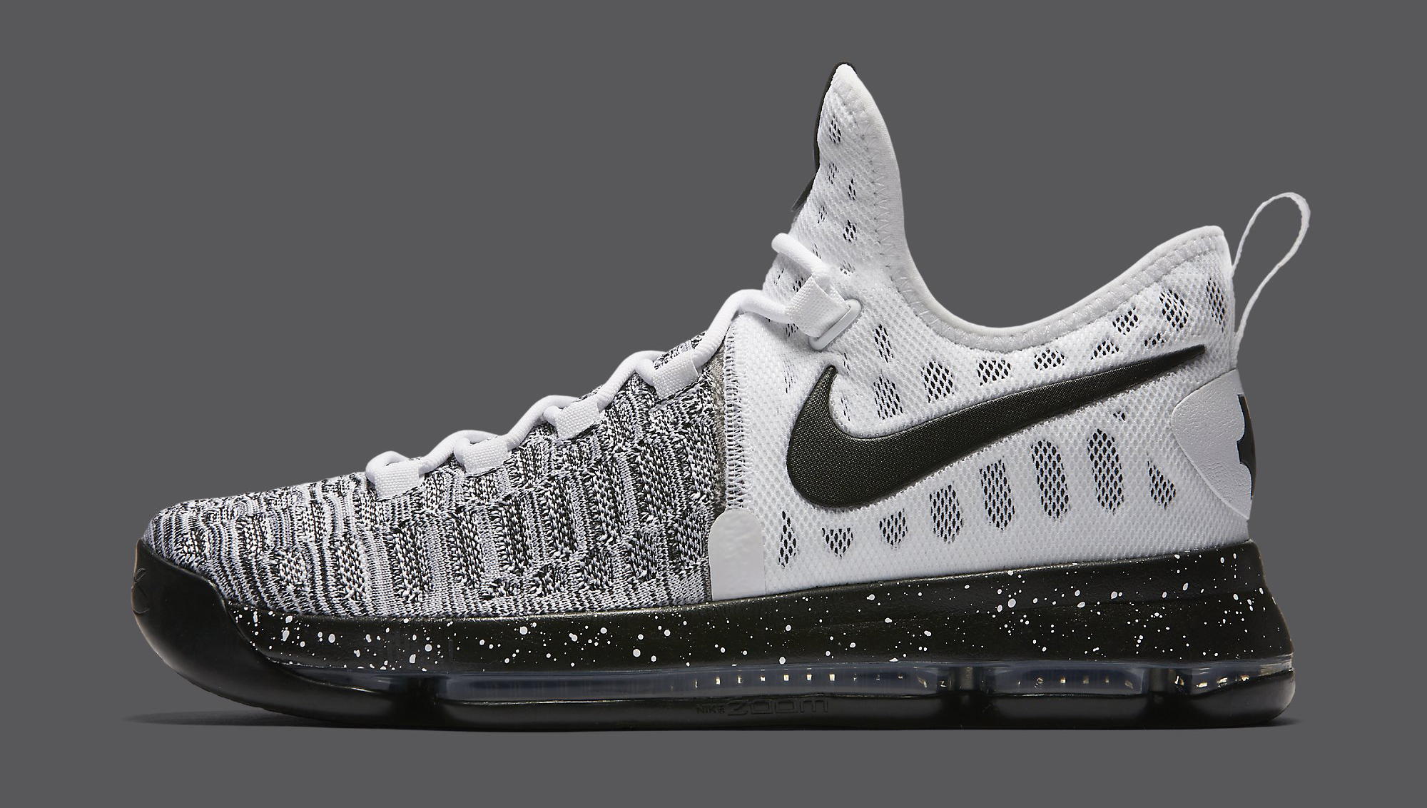 870b28db4305 Nike KD 9 White Black Oreo 843392-100 Profile