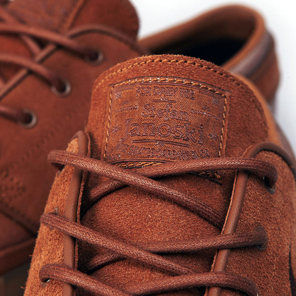 eefe10b6 ... British Tan leather upper, Dark Field Brown Swoosh and a light brown  textile panel at the heel. The always-classy solid gum rubber sole finishes  it off.