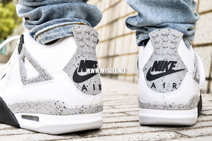 Air Jordan 4 'Cement' with Nike Air On-Foot 836015-192 (6)