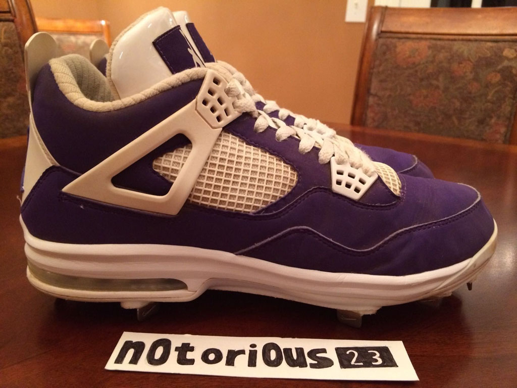 Air Jordan IV 4 Purple Suede Sunset Apollos PE (4)
