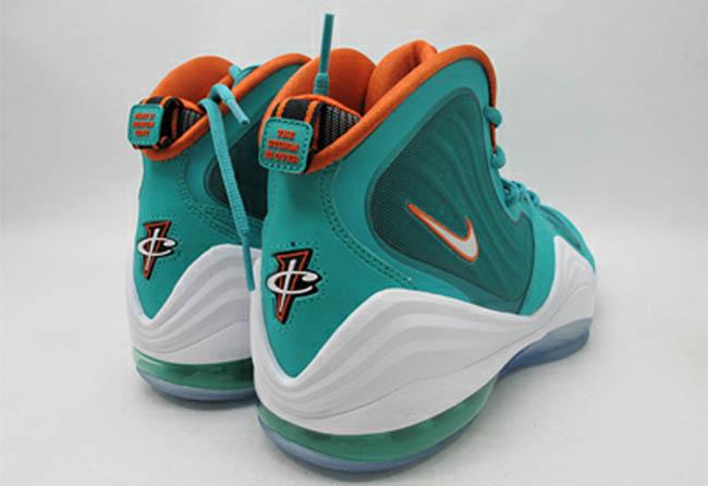 quality design 4984a e9f4a Nike Air Penny V Miami Dolphins New Green White Safety Orange 537331-300 (2