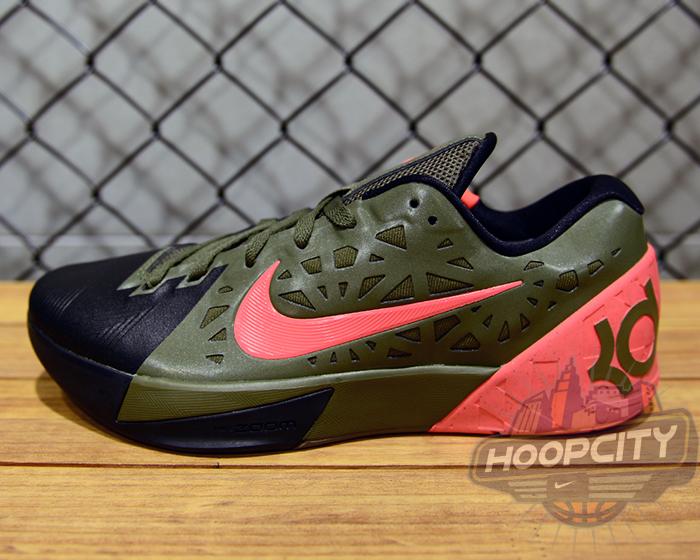 Nike KD Trey 5 V Medium Olive Atomic Red A39q6084