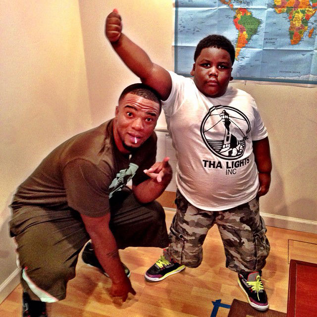 TerRio wearing Air Jordan 3 III Retro GS