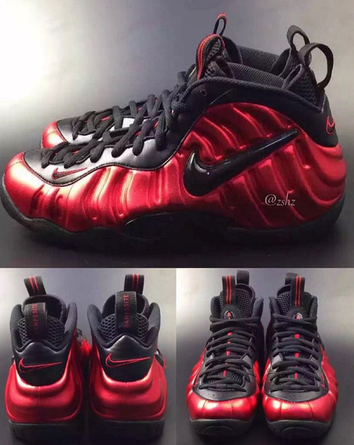 8fef3579b5fc1 Here's a First Look at 2016's Black/Red Nike Foamposite Pro | Sole ...