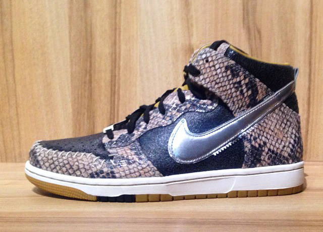 Nike Dunk Highs with Zoom and Snakeskin