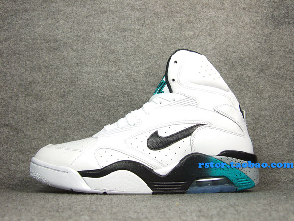 Nike Air Force 180 High White Blue Emerald Wolf Grey Black 537330-100 (1)