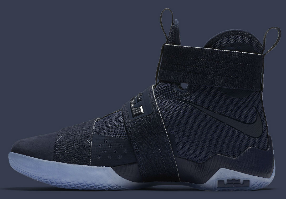 separation shoes 68c5e 70176 Nike LeBron Soldier 10 Midnight Navy Release Date Medial 844378-444