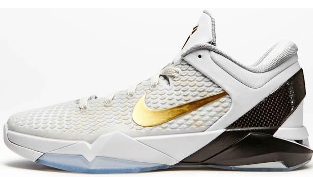 Nike Zoom Kobe 7 System Elite White/Metallic Gold