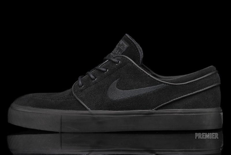 a85d5c07bed0b8 The Black   Black   Black Nike SB Zoom Stefan Janoski is available now at Nike  SB retailers