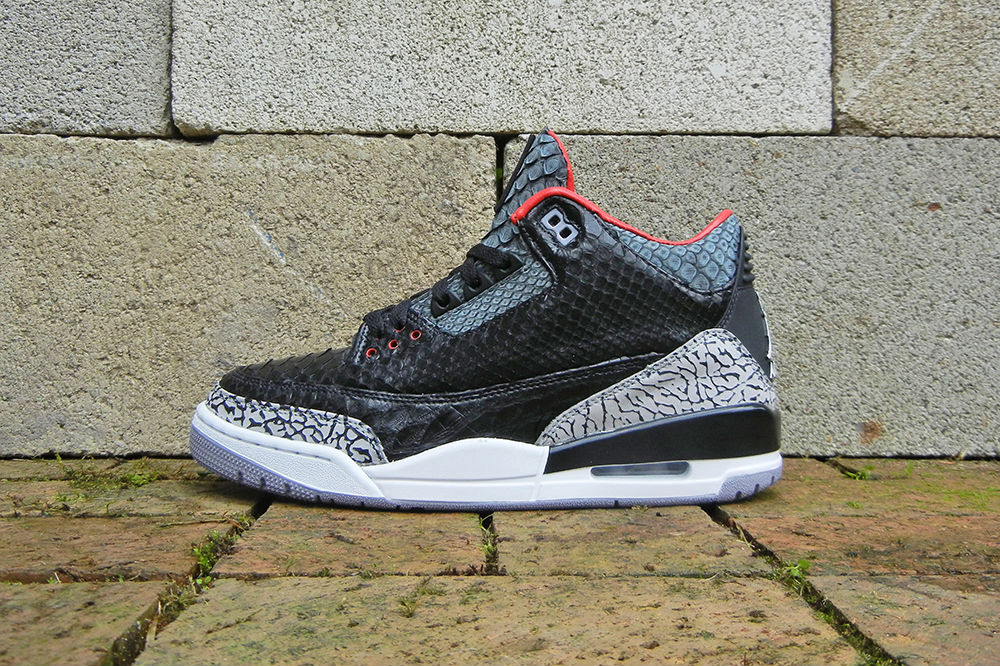 "Air Jordan III 3 Retro ""Black Python"" by JBF Customs (1)"