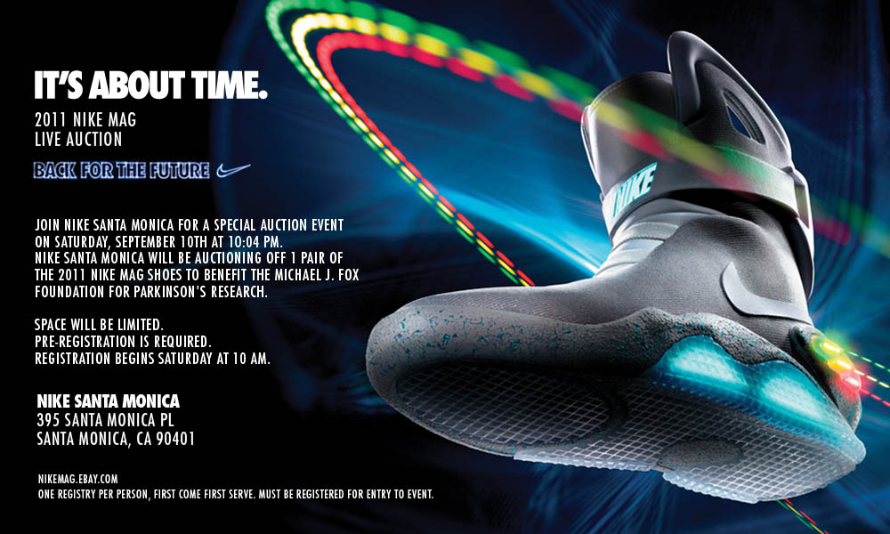 Nike MAG Back to the Future Shoes Nike Santa Monica Auction