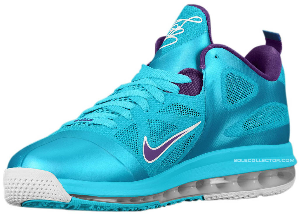 Nike LeBron 9 Low Summit Lake Hornets 510811-400 (2)