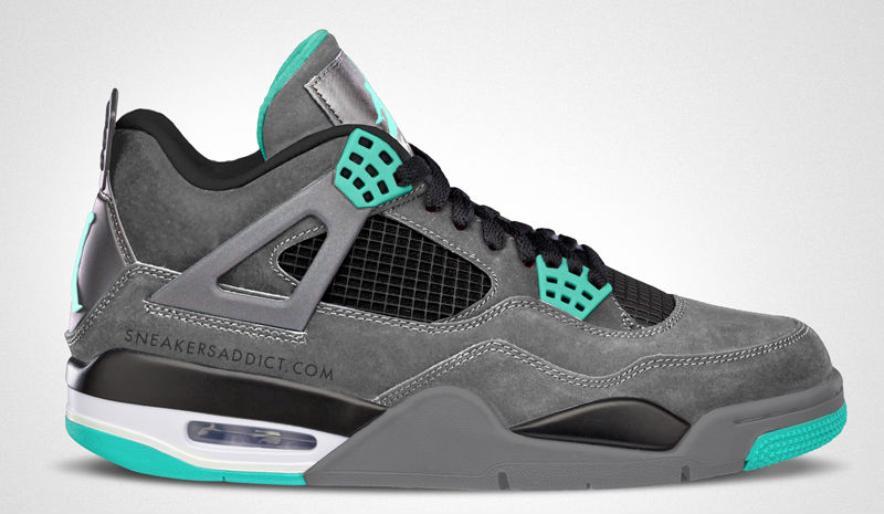 Air Jordan IV 4 Green Glow 308497-033 (1)