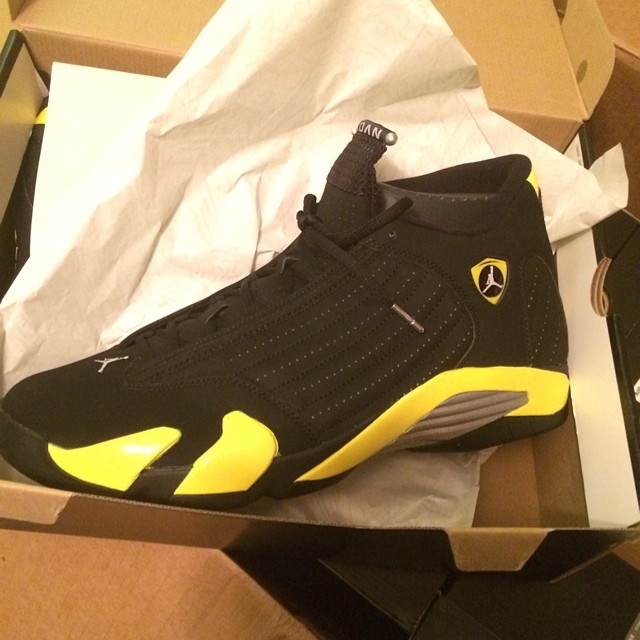 Rip Hamilton Picks Up Air Jordan XIV 14 Thunder