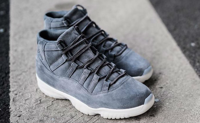 Air Jordan 11 Grey Suede Toe 914433-003