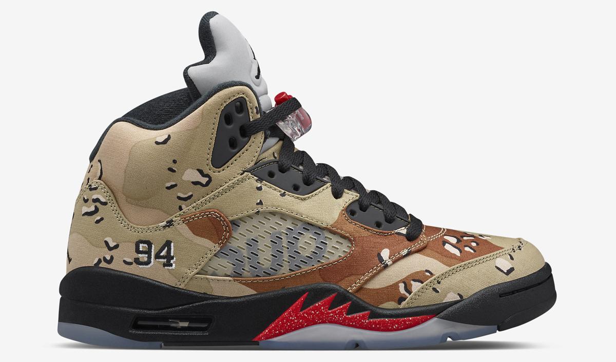 Is the Camo Supreme x Air Jordan 5