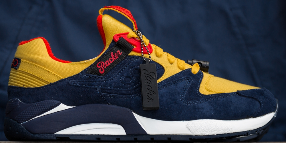 Saucony Grid 9000 Navy/Yellow-Red