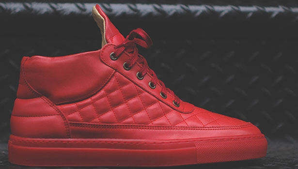 Filling Pieces Quilted RF-Mid Red/Red