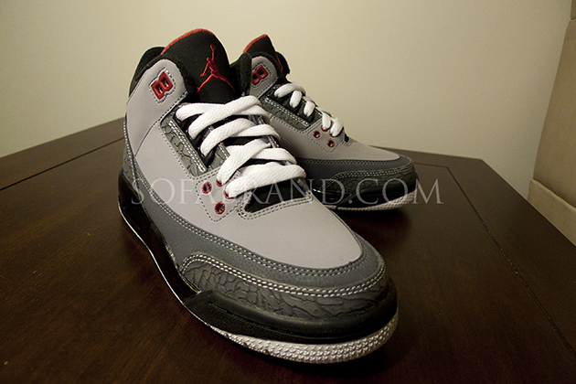 new product b5445 dabbf Air Jordan Retro 3 GS Stealth Varsity Red Light Graphite Black 136064-003