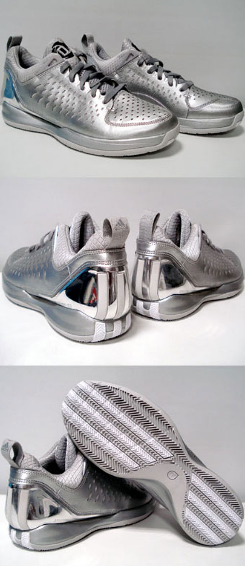 adidas rose 3 low metallic silver