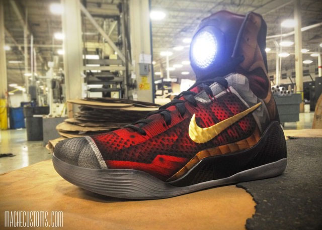 half off 7d992 31da4 Nike Kobe 9 Iron Man Custom Shoes by Mache (2)