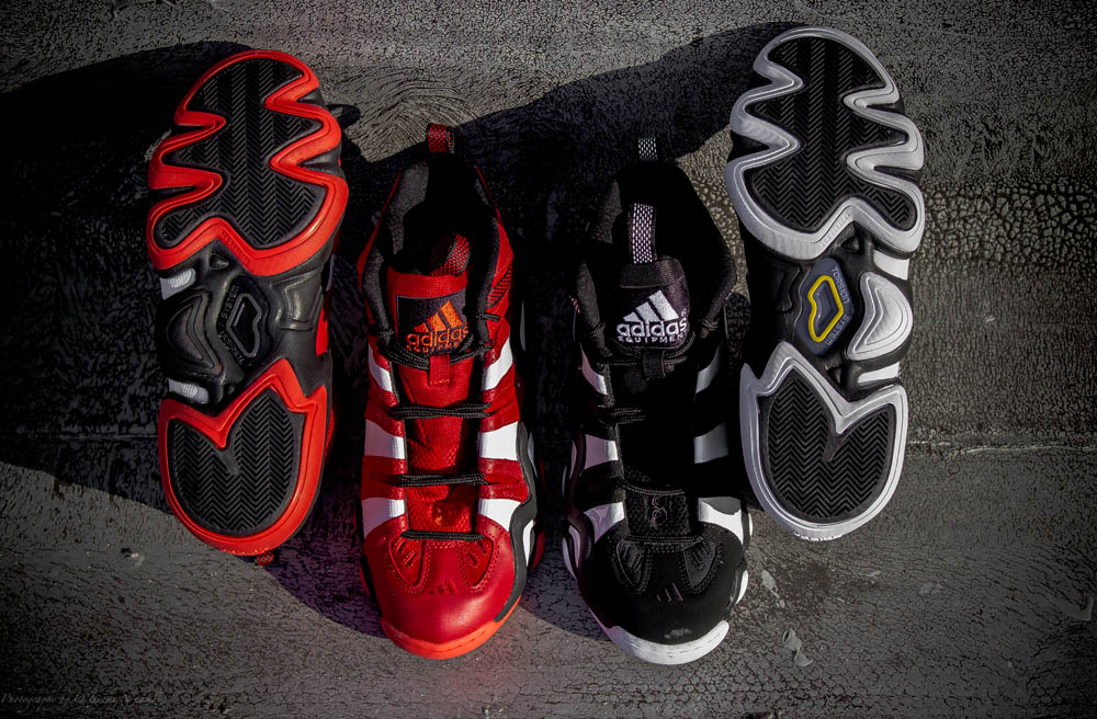free shipping efb4c 1ee20 adidas Crazy 8  Black White  and  University Red