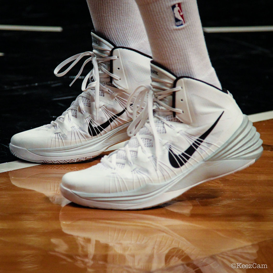 SoleWatch // Up Close At Barclays for Nets vs Knicks - Alan Anderson wearing Nike Hyperdunk 2013
