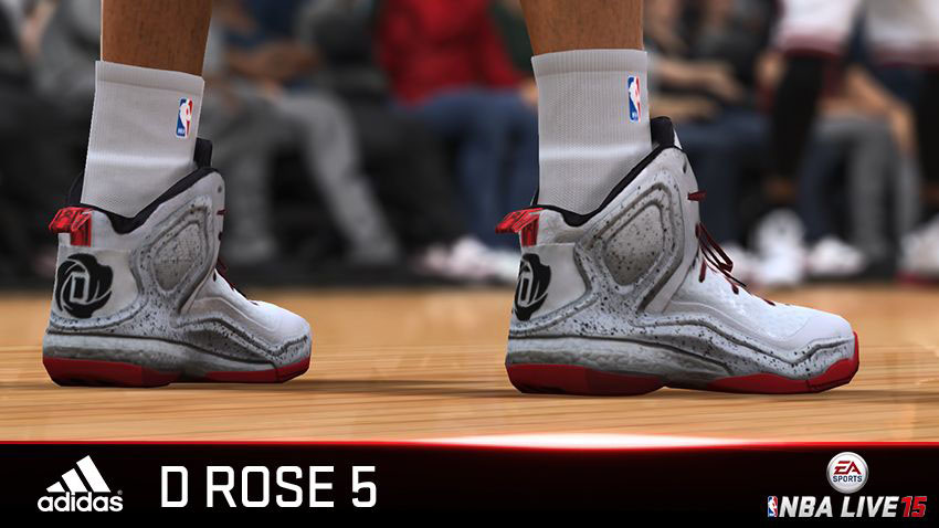 NBA Live 15 Sneakers: adidas D Rose 5 Boost Home