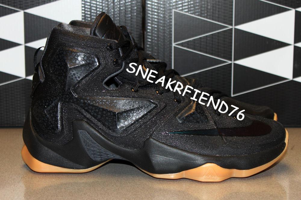 new arrival 4c897 b6b4d Nike LeBron 13 Black Lion Black Gum 807219-001 Release Date (6)