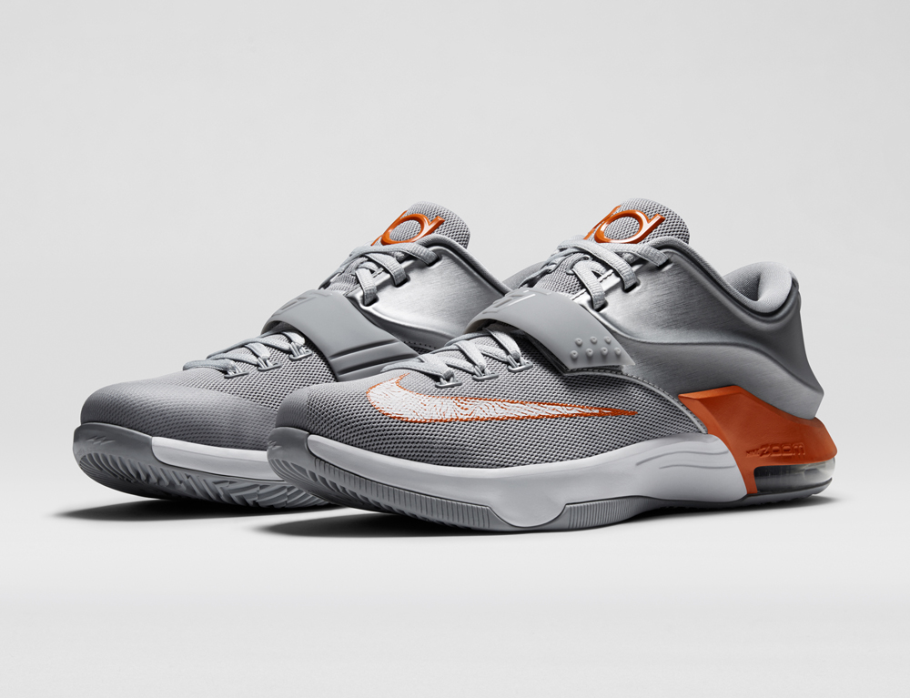 The Nike KD 7 in Texas Longhorns Colors. The yearly