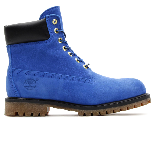atmos x Timberland 6 inch boot in blue suede profile