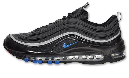 Nike Air Max 97 Black Blue Sapphire Metallic Silver Sole Collector