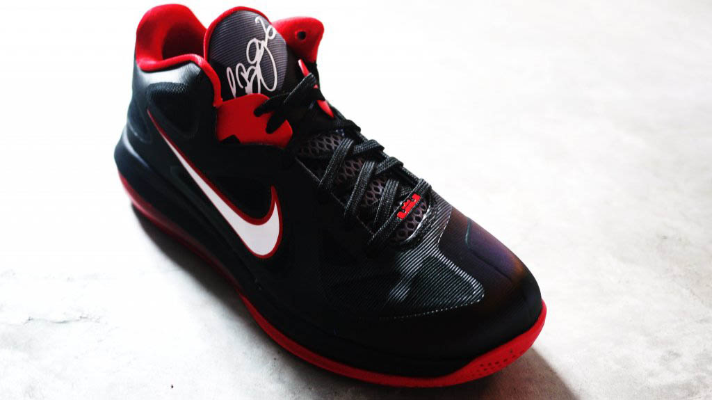 separation shoes 3e1dc b4bd7 Nike LeBron 9 Low Black White Cool Grey Sport Red 510811-003 (3)