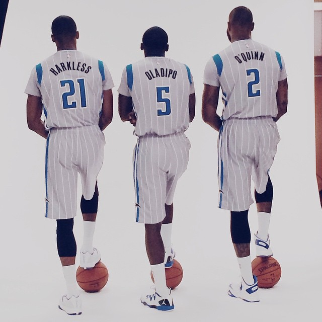 Orlando Magic Silver Sleeved Pride Uniforms (2)