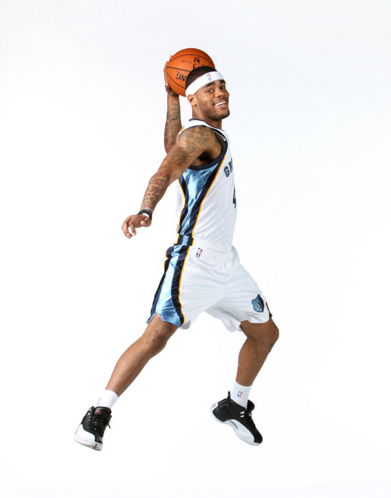 D.J. Kennedy wearing Air Jordan XII 12 Playoff