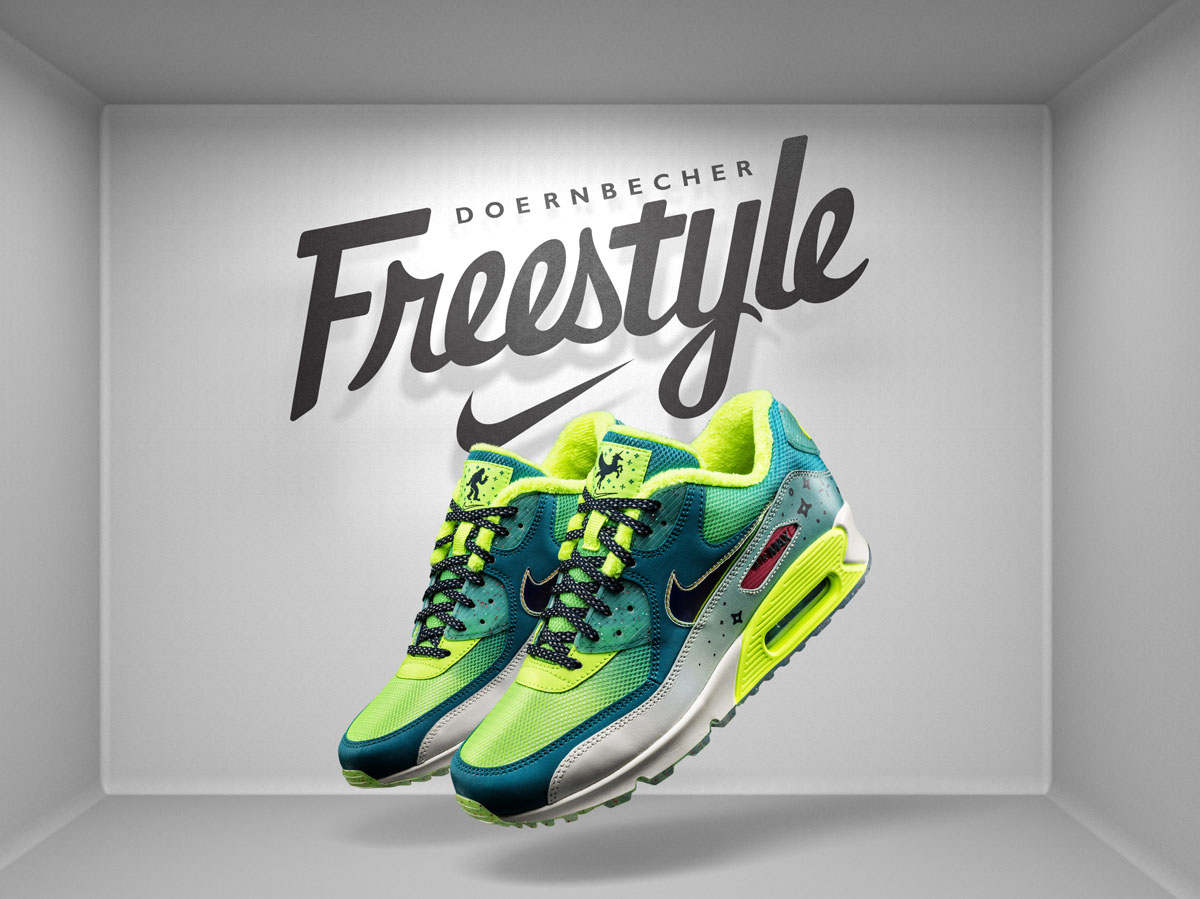 separation shoes d56a5 35b9b Nike Air Max 90 Doernbecher by Emory Maughan