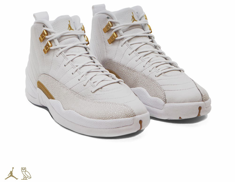 OVO x Air Jordan 12 White (1)