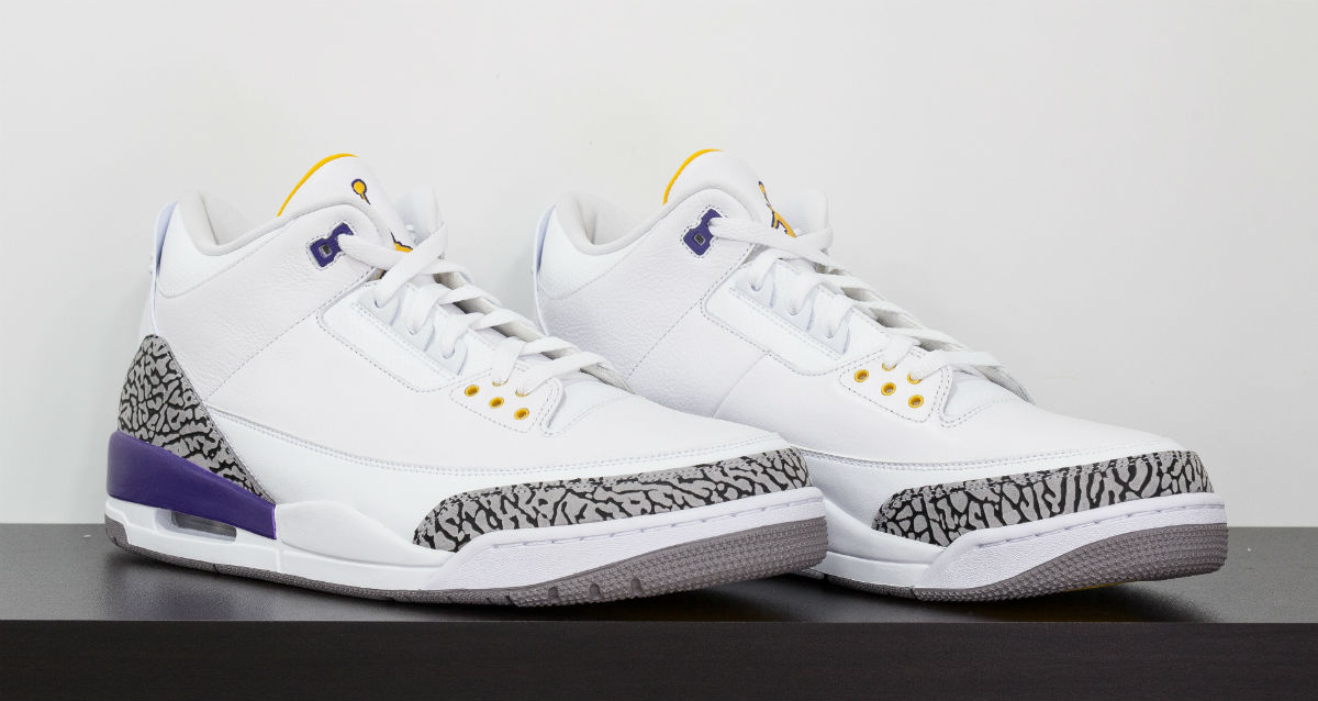 Kobe Bryant Air Jordan 3 White (1)