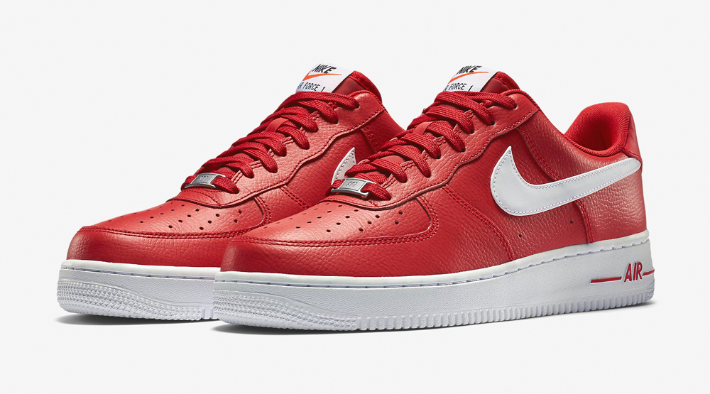 supreme x nike air force one low red\/white
