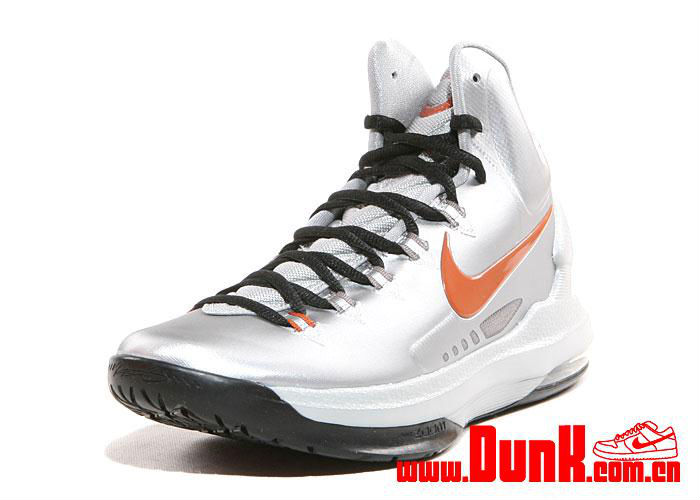 new concept 26838 9a012 Nike KD V Metallic Silver Desert Orange Sport Grey Black 554988-002 (3)