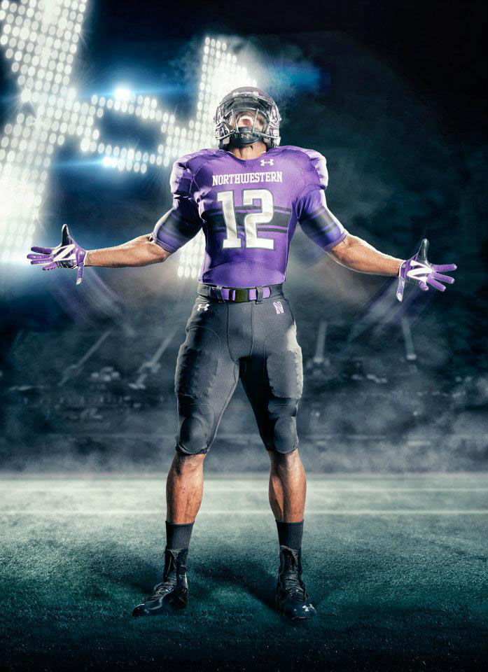 Under Armour Northwestern Football Uniforms Home (1)